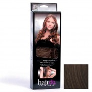 Hairdo Haarteil Clip in Wavy Extension R4 Midnight Brown 55 cm