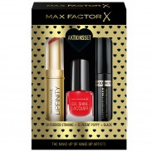 Max Factor Geschenk-Set Lipfinity 30+Gel Lac 25+Masterpiece