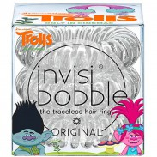 Invisibobble Trolls Sparkling Clear 3 Stück