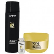 Tahe Magic BX Gold Homecare Paket Shampoo 300 ml + Maske 300 ml + Ampullen 5 x 10 ml