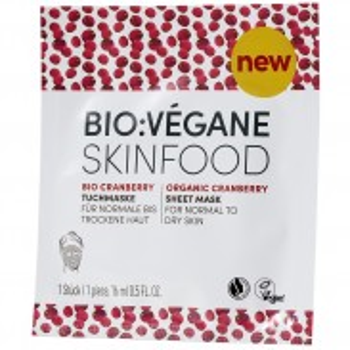 BIO:VÉGANE Bio Cranberry Tuchmaske 16 ml