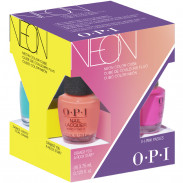 OPI Neon Collection Nail Laquer Good Girls Gone Plaid Mini Set