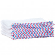 1o1BARBERS Barber Towel White/Red/Blue 40x80cm