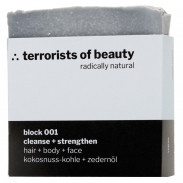 terrorists of beauty block 001 cleanse + strengthen Seife 100 g