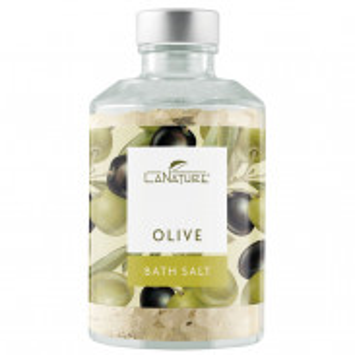 LaNature Badesalz Olive mit Beerenblätter im Dekoglas 250 g