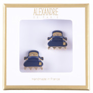 Alexandre de Paris Pince Vendômes Micro Double Giftbox Night blue