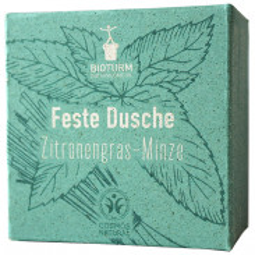 BIOTURM Feste Dusche Zitronengras-Minze 100g