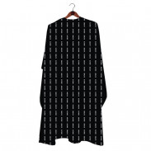 GØLD´s Barber Umhang - Black Pattern