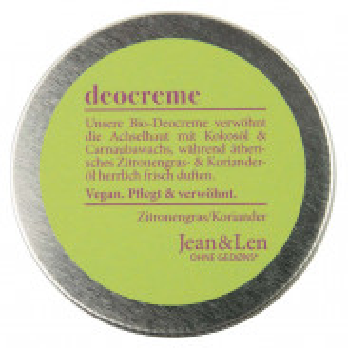 Jean & Len Deocreme Zitronengras 50 ml