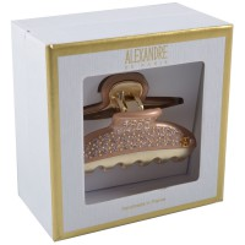Alexandre de Paris Pince Vendôme Medium mit Strass Champagner in Geschenkebox